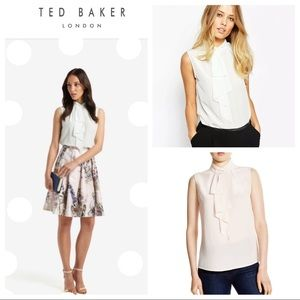 Ted Baker Women's Syna Frill Neck Silk Top